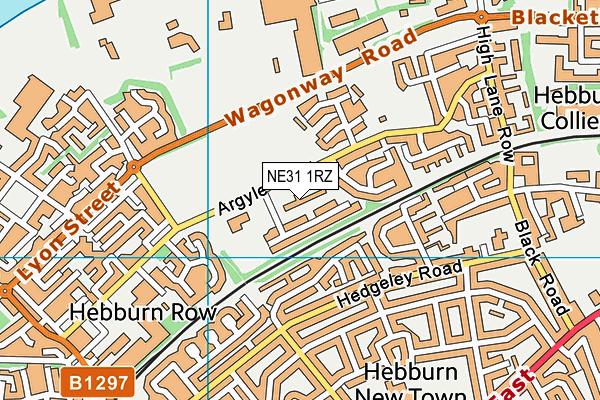 St Aloysius RC Voluntary Aided Infant School map (NE31 1RZ) - OS VectorMap District (Ordnance Survey)
