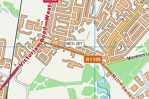St Joseph's Catholic Academy map (NE31 2ET) - OS VectorMap District (Ordnance Survey)