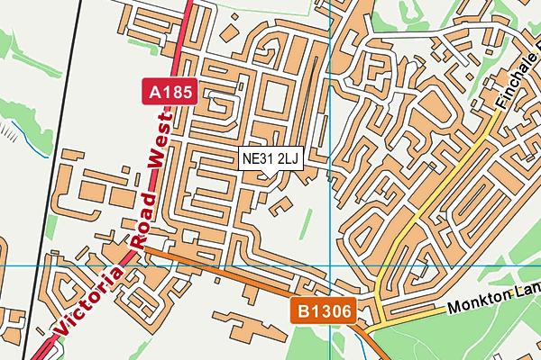 Toner Avenue Primary School map (NE31 2LJ) - OS VectorMap District (Ordnance Survey)