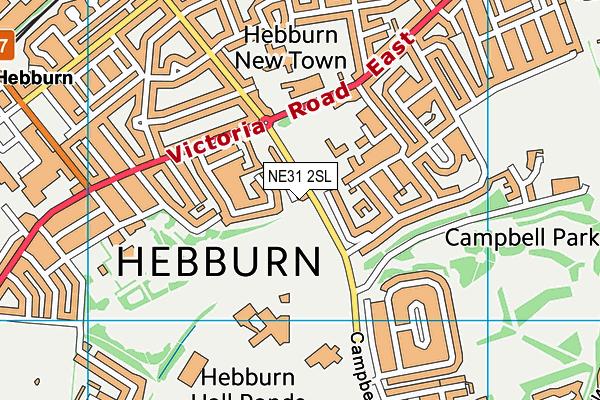Hebburn Lakes Primary School map (NE31 2SL) - OS VectorMap District (Ordnance Survey)