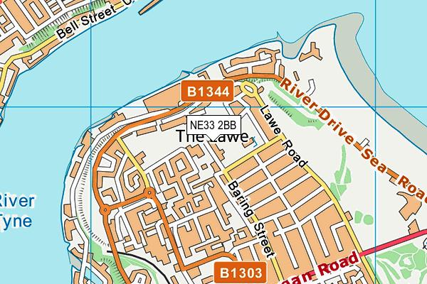 Hadrian Primary School map (NE33 2BB) - OS VectorMap District (Ordnance Survey)