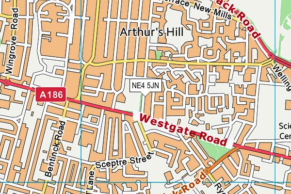 Westgate Hill Primary Academy map (NE4 5JN) - OS VectorMap District (Ordnance Survey)