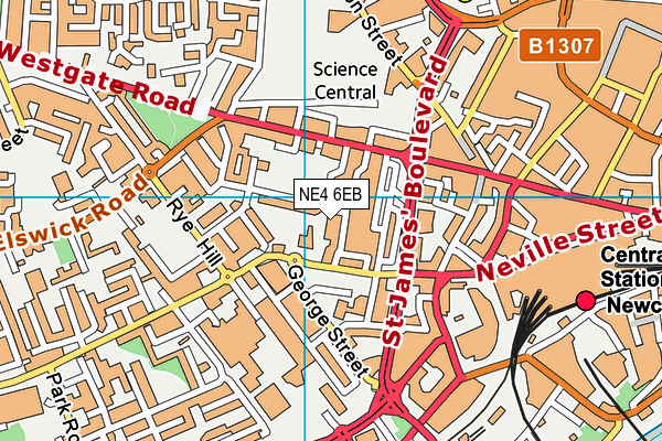 Our Lady and St Anne's RC Primary School map (NE4 6EB) - OS VectorMap District (Ordnance Survey)