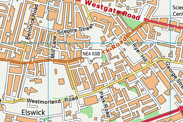 Hawthorn Primary School map (NE4 6SB) - OS VectorMap District (Ordnance Survey)