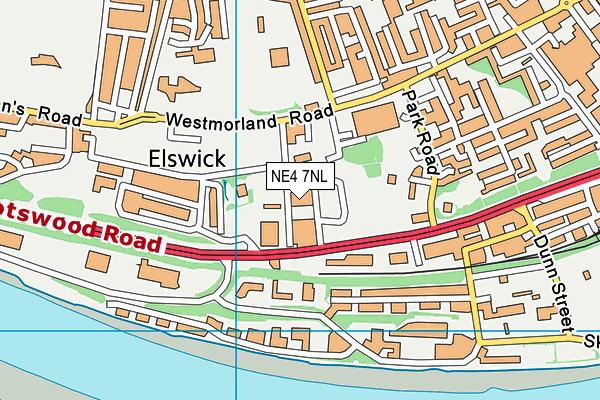 Cruddas Park Early Years Centre map (NE4 7NL) - OS VectorMap District (Ordnance Survey)