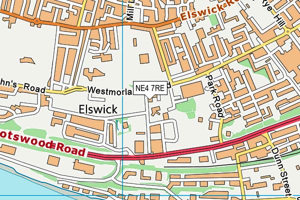 St Michael's RC Primary School map (NE4 7RE) - OS VectorMap District (Ordnance Survey)