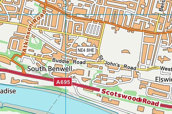 St Johns Primary School map (NE4 8HE) - OS VectorMap District (Ordnance Survey)