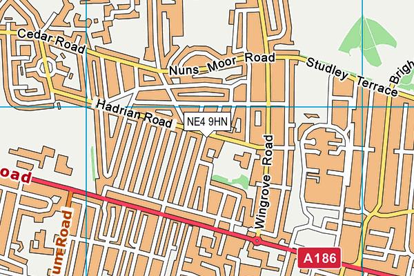 Wingrove Primary School map (NE4 9HN) - OS VectorMap District (Ordnance Survey)