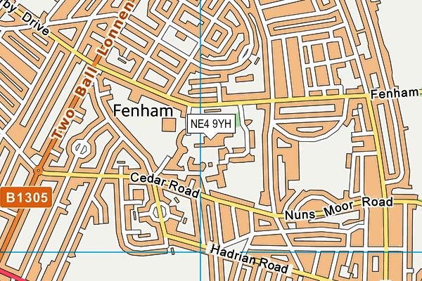 Sacred Heart Catholic High School map (NE4 9YH) - OS VectorMap District (Ordnance Survey)