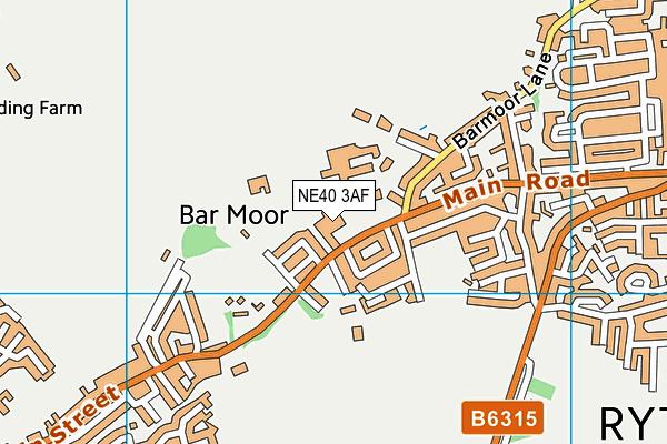 Ryton Junior School map (NE40 3AF) - OS VectorMap District (Ordnance Survey)