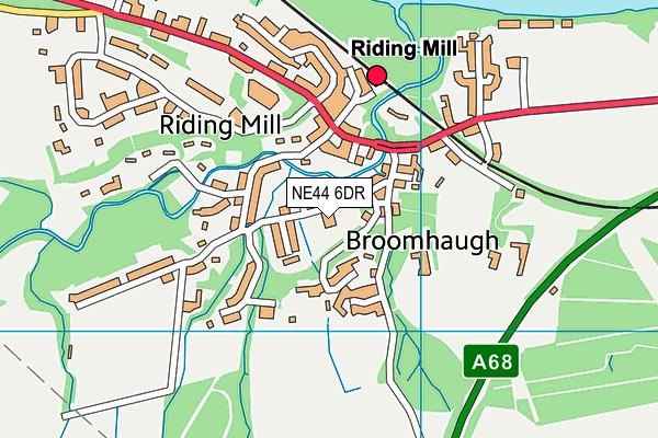 Broomhaugh Church of England First School map (NE44 6DR) - OS VectorMap District (Ordnance Survey)