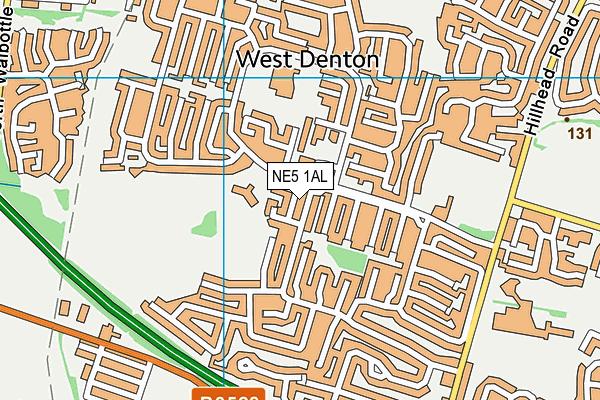 NE5 1AL map - OS VectorMap District (Ordnance Survey)