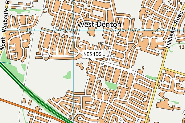 Knop Law Primary School map (NE5 1DS) - OS VectorMap District (Ordnance Survey)