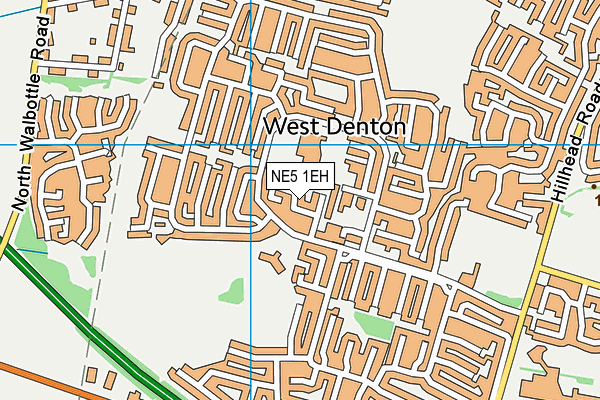 NE5 1EH map - OS VectorMap District (Ordnance Survey)