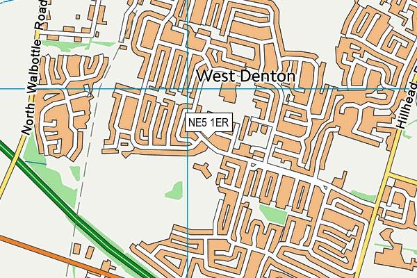 NE5 1ER map - OS VectorMap District (Ordnance Survey)