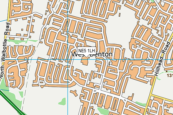 Milecastle Primary School map (NE5 1LH) - OS VectorMap District (Ordnance Survey)
