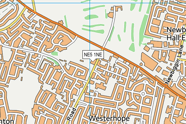 Westerhope Primary School map (NE5 1NE) - OS VectorMap District (Ordnance Survey)