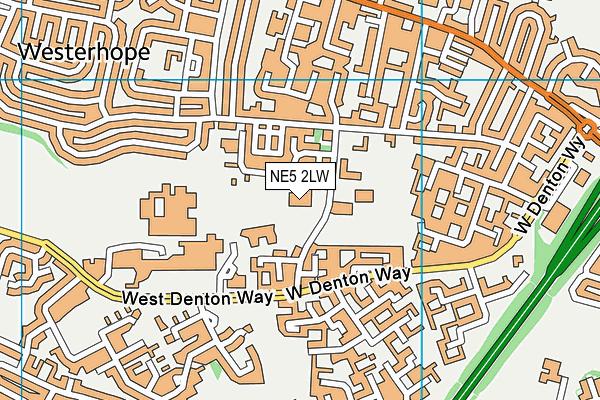 Beech Hill Primary School map (NE5 2LW) - OS VectorMap District (Ordnance Survey)