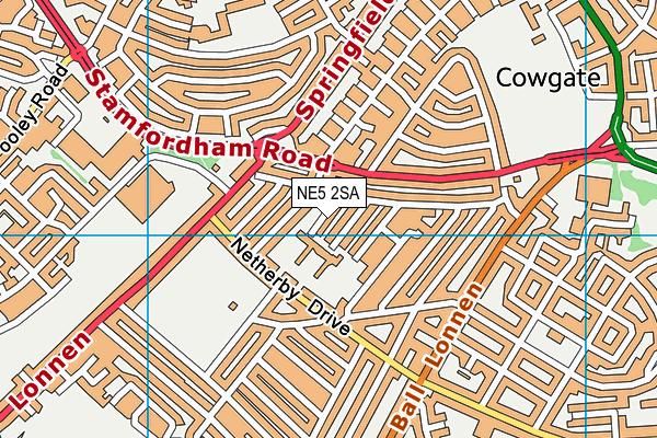 English Martyrs' RC Primary School map (NE5 2SA) - OS VectorMap District (Ordnance Survey)
