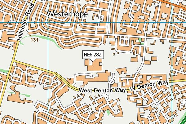 Studio West map (NE5 2SZ) - OS VectorMap District (Ordnance Survey)