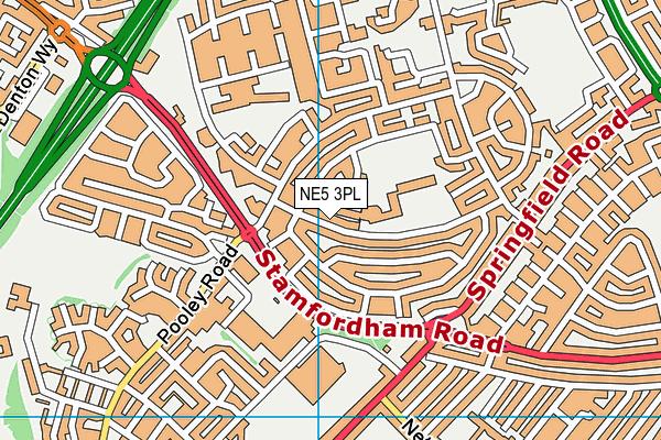 Thomas Walling Primary Academy map (NE5 3PL) - OS VectorMap District (Ordnance Survey)