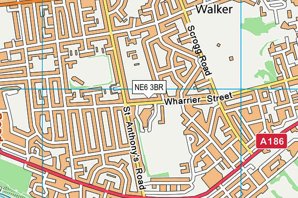 Walker Activity Dome map (NE6 3BR) - OS VectorMap District (Ordnance Survey)