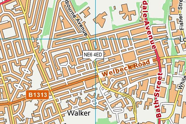Sir Charles Parsons School map (NE6 4ED) - OS VectorMap District (Ordnance Survey)