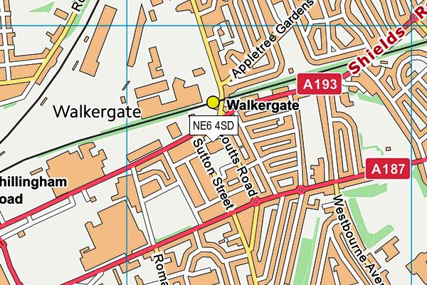 Walkergate Community School map (NE6 4SD) - OS VectorMap District (Ordnance Survey)