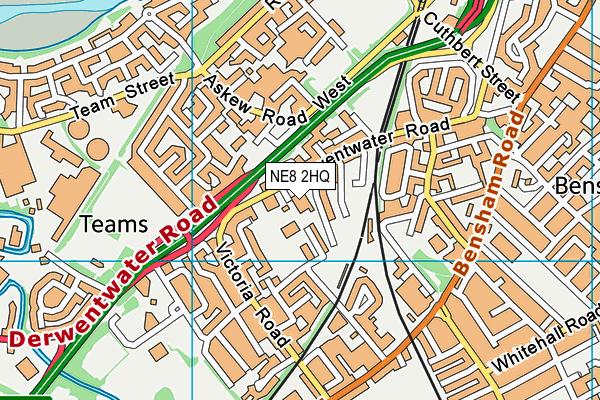 St Aidan's Church of England Primary School map (NE8 2HQ) - OS VectorMap District (Ordnance Survey)