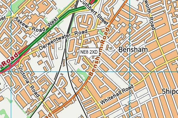 Bensham Grove Nursery School map (NE8 2XD) - OS VectorMap District (Ordnance Survey)