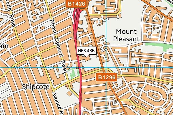 South Street Community Primary School map (NE8 4BB) - OS VectorMap District (Ordnance Survey)