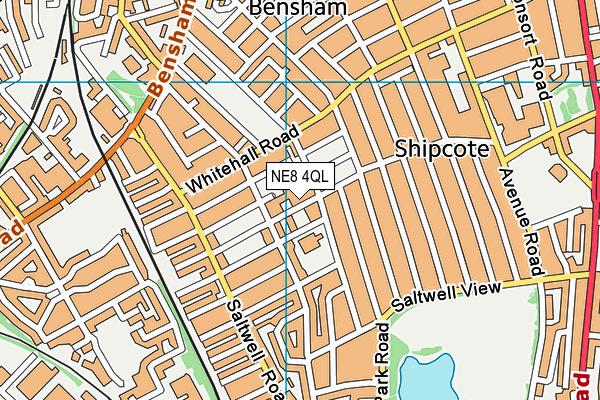 Corpus Christi Catholic Primary School map (NE8 4QL) - OS VectorMap District (Ordnance Survey)