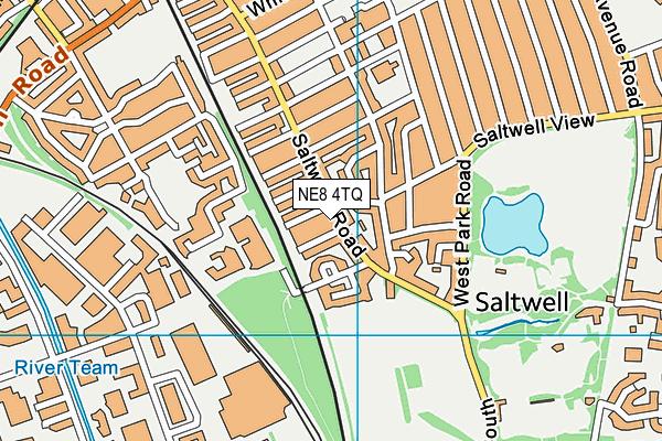 NE8 4TQ map - OS VectorMap District (Ordnance Survey)