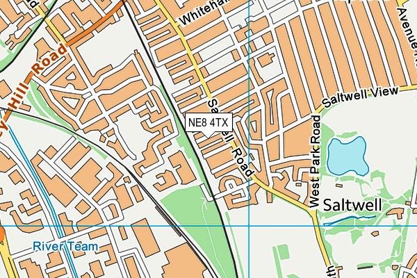 NE8 4TX map - OS VectorMap District (Ordnance Survey)
