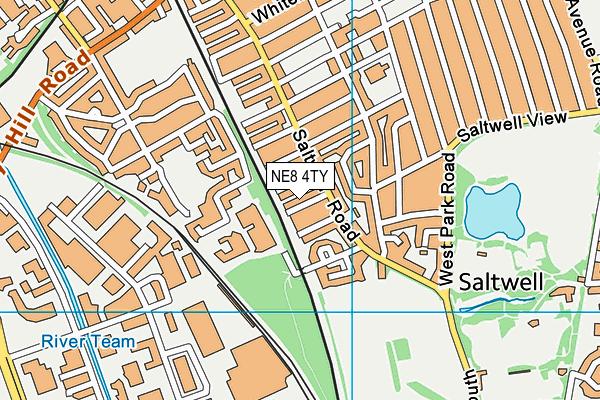 NE8 4TY map - OS VectorMap District (Ordnance Survey)
