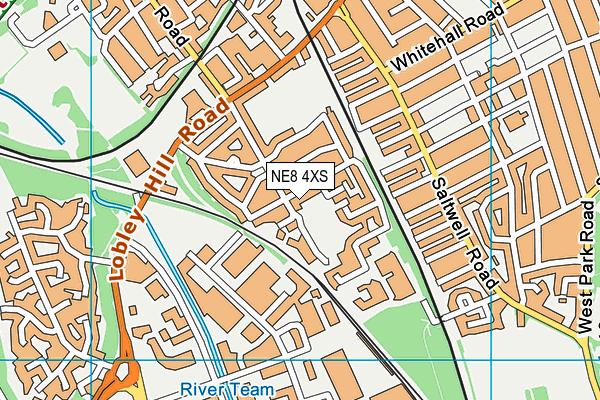NE8 4XS map - OS VectorMap District (Ordnance Survey)
