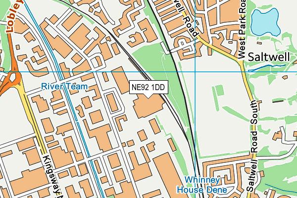 NE92 1DD map - OS VectorMap District (Ordnance Survey)