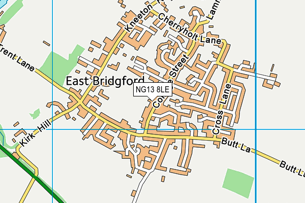 Butts Field map (NG13 8LE) - OS VectorMap District (Ordnance Survey)