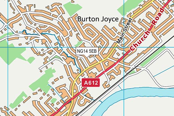 Burton Joyce Primary School map (NG14 5EB) - OS VectorMap District (Ordnance Survey)