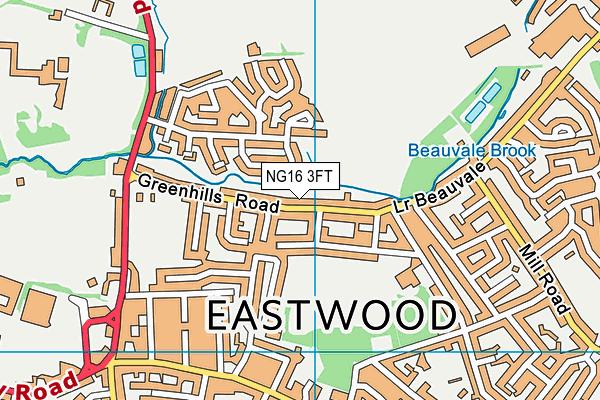 Eastwood Town C.c. map (NG16 3FT) - OS VectorMap District (Ordnance Survey)