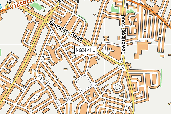 The William Gladstone Primary Academy map (NG24 4HU) - OS VectorMap District (Ordnance Survey)