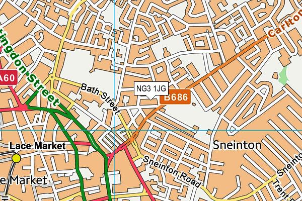 Bushido Mma Academy (Closed) map (NG3 1JG) - OS VectorMap District (Ordnance Survey)