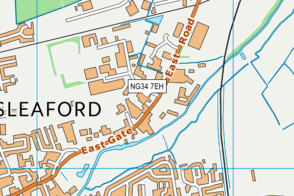 Better Gym Sleaford map (NG34 7EH) - OS VectorMap District (Ordnance Survey)