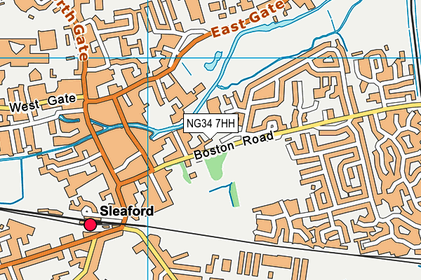 Sleaford Leisure Centre map (NG34 7HH) - OS VectorMap District (Ordnance Survey)