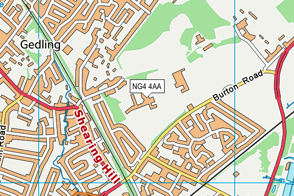 Carlton-le-willows Academy map (NG4 4AA) - OS VectorMap District (Ordnance Survey)