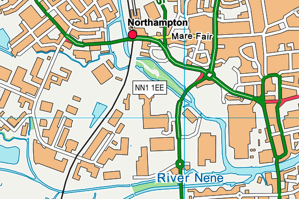 Dw Fitness First (Northampton) (Closed) map (NN1 1EE) - OS VectorMap District (Ordnance Survey)