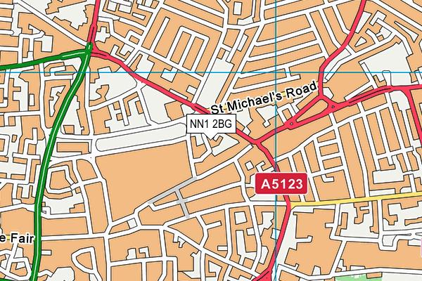 Progress Schools - Northamptonshire map (NN1 2BG) - OS VectorMap District (Ordnance Survey)