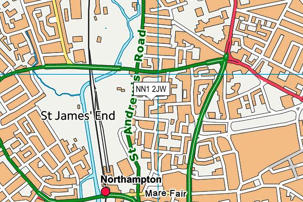 NN1 2JW map - OS VectorMap District (Ordnance Survey)