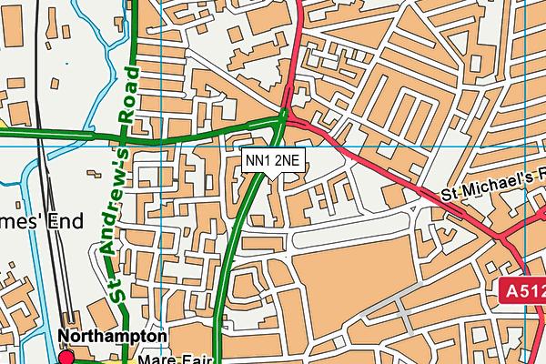 The Spires Academy map (NN1 2NE) - OS VectorMap District (Ordnance Survey)