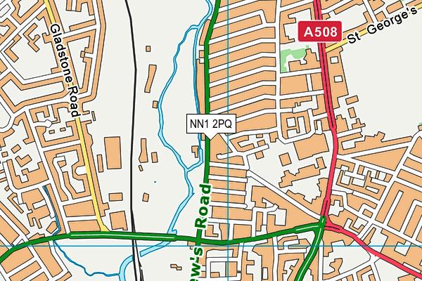 Northampton Boys Brigade Old Boys Rfc map (NN1 2PQ) - OS VectorMap District (Ordnance Survey)